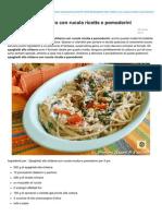 Blog.giallozafferano.it-spaghetti Alla Chitarra Con Rucola Ricotta e Pomodorini