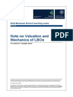 Finance_LBO_Note on Valuation and Mechanics of LBOs