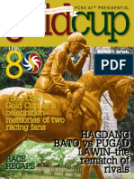 PCSO 42nd Presidential Gold Cup Souvenir Magazine