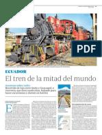 Ecuador, el tren de la mitad del mundo