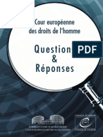 Questions Answers Cour Europpéenne
