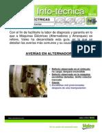 AVERÍAS EN MÁQUINAS ELÉCTRICAS DE AUTOMÓVILES