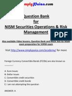 NISM SORM certification Question Bank