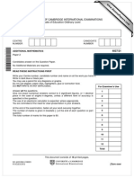 IGCSE Additional Mathematics Paper 2 Version 1 Summer 2012