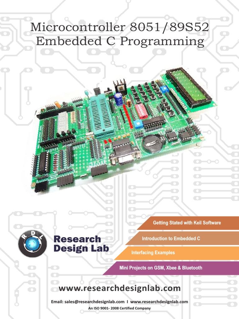 Micro Controller 8051 89s52 Embedded C Programming Circuit Diagram Of Development Board