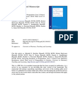 critical care clinical pharmacists pdf | Intensive Care