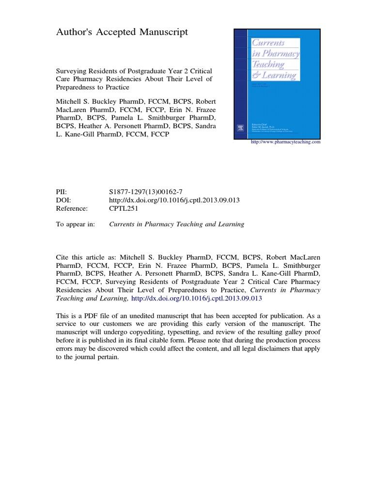 critical care clinical pharmacists pdf   Intensive Care Medicine