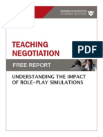 Teaching Negotiation