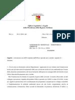 AREE AD ELEVATO RISCHIO PARERE ULL 46 2014 ISTITUZIONE COMMISSIONE REVOCA CONVENZIONE ANCI    UFF SPECIALE AGENDA 21 DEL 23 06 11 CUSPILICI