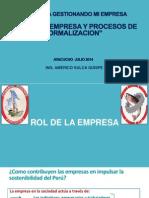 Rol de La Empresa y Procesos de Formalización