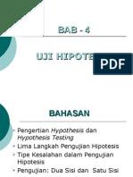 Uji Hipotesis Untuk Mean Proporsi