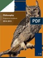 Philosophy Prog Hbk 14-15