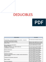 DEDUCIBLES DE SEGUROS