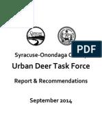 Urban Deer Task Force Report