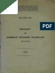 Rewiew of German Cruiser Warfare 1914 1918 UK 1940
