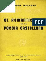 El Romanticismo en La Poesia Castellana - Cesar Vallejo
