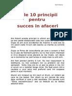 10 Principii Pentru Succes in Afaceri