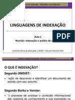 Introdução à Linguagens de Indexação