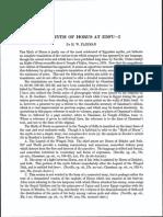 Fairman, The Myth of Horus I, JEA 21, 1935