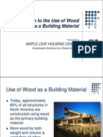 Introduction to the Use of Wood as a Building Material