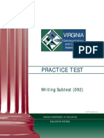 VCLA Writing PracticeTest 0612