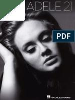 Adele - 21 (Songbook) 2011