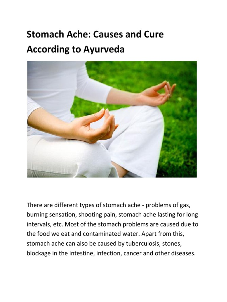 stomach ache causes and cure according to ayurveda
