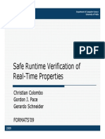 (Slides) Safe Runtime Verification of Real Time Properties