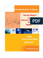 Final Report on Survey of Internet Standardization in Nepal 2014