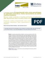Produção Analítico-comportamental Sobre Ensino-Aprendizagem