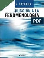 Patocka, Jan - Introducción a La Fenomenología