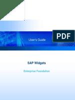 SAP Widget Foundation User's Guide