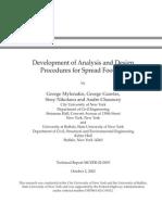 MCEER-02-0003 Development of Analysis & Design Procedures for Spread Footings by Gazetas 2002 Ed