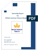 Internship report on British American Tobacco Bangladesh