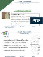 Chap6 Cours Trigonometrie