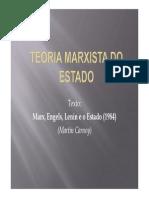 Slides – Marx, Engels, Lenin e o Estado