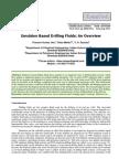 Emulsion Based Drilling Fluids an Overview