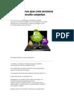 Eliminar Virus Que Crea Accesos Directos y Oculta Carpetas