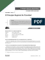 Princio de Prioridd Registral