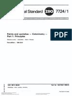Colorimetria ISO 7724-1-1984