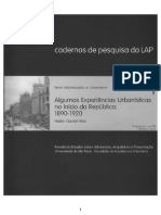 Algumas experiências urbanísticas no início da República