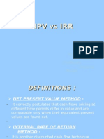 npv and irr method