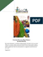 Knitomatic Crochet Grocery Bag