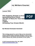 ScreenStoryWriter Lesson 2