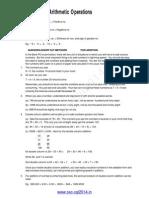Basic Arithmetic Operations Short Cuts