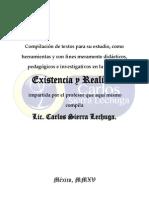 Existencia y Realidad COMPILACIÓN Carlos Sierra Lechuga