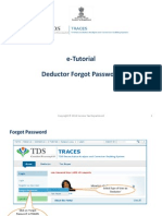 E-Tutorial - Deductor Forgot Password