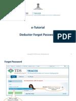 E-Tutorial - Deductor Forgot Password