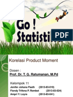 TUGAS METLIT Korelasi Produk Moment Kelompok 11 FK UnPatty
