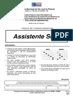 Prova Assistente Social Prefeitura Municipal Sao Jose Ribamar Ma 2011